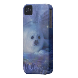 Baby Seal on Ice - Beautiful Seascape iPhone 4 Cover