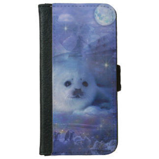 Baby Seal on Ice - Beautiful Seascape iPhone 6 Wallet Case