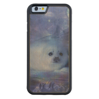 Baby Seal on Ice - Beautiful Seascape Maple iPhone 6 Bumper Case