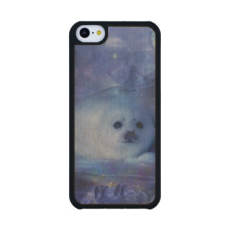 Baby Seal on Ice - Beautiful Seascape Maple iPhone 5C Case