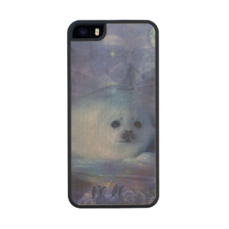 Baby Seal on Ice - Beautiful Seascape Wood iPhone SE/5/5s Case
