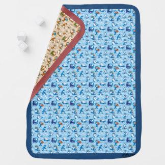 Baby Seal Reversible Baby Blanket (Blue & Salmon)