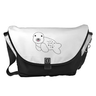 Baby seal with spots commuter bag