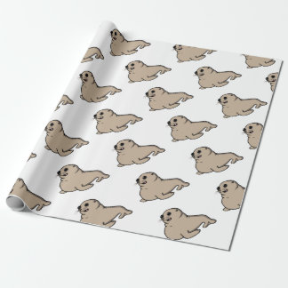 Baby seal wrapping paper