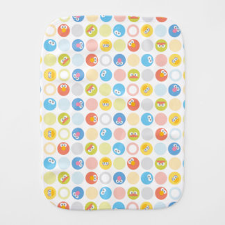 Baby Sesame Street Character Shape Pattern Burp Cloth
