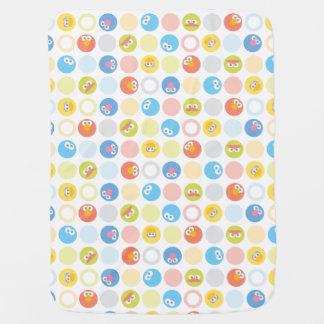 Baby Sesame Street Character Shape Pattern Receiving Blanket