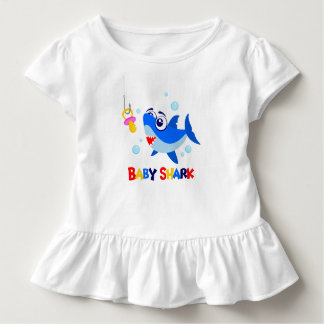 Baby Shark Toddler Ruffle Tee