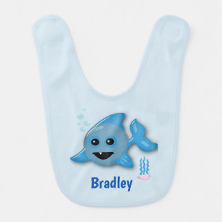 Baby Shark with Name Bib