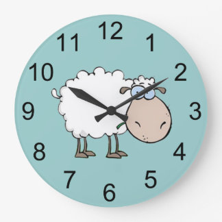 Baby Sheep Animal Wall Clock