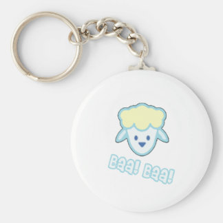 Baby Sheep Cartoon Basic Round Button Key Ring