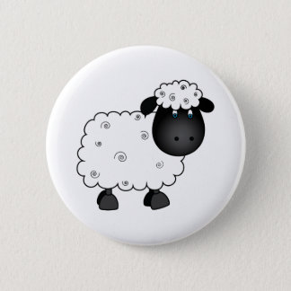 Baby Sheep For Ewe 6 Cm Round Badge
