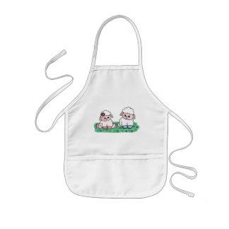 baby sheeps kids apron