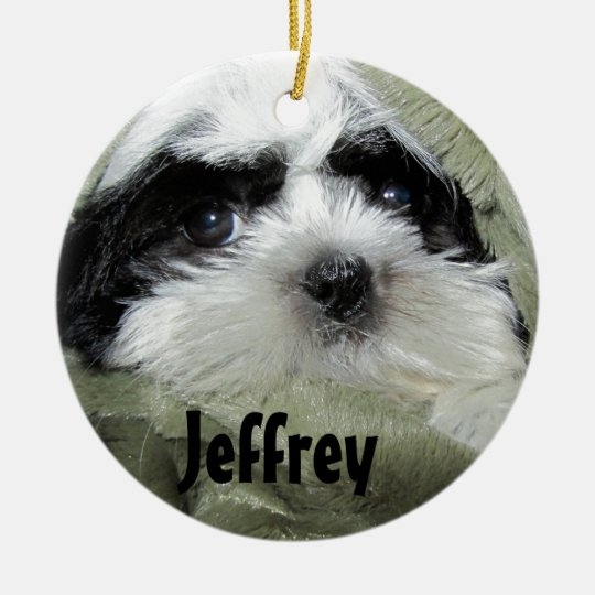 Baby Shih Tzu Puppy Ornament to Personalise