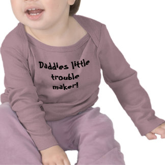 baby shirt daddies little trouble maker