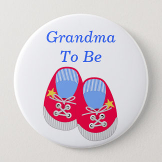Baby Shoes Baby Shower Grandma Pin Button
