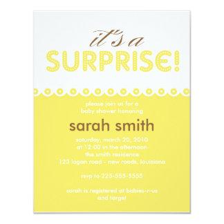 surprise baby shower invitations announcements