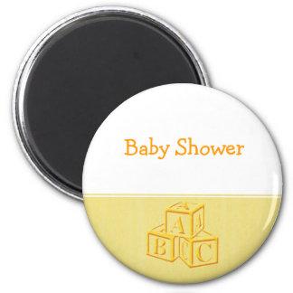 Baby Shower 6 Cm Round Magnet