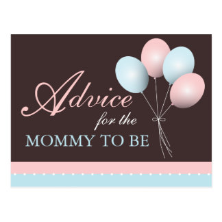 Baby Shower Advice for the Mommy to Be Postcard