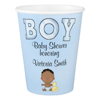 Baby Shower Baby Boy Ethnic Paper Cup
