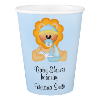 Baby Shower Baby Boy Lion Paper Cup
