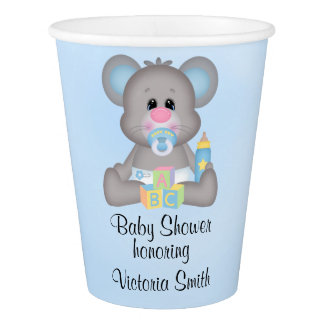 Baby Shower Baby Boy Mouse Paper Cup