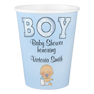 Baby Shower Baby Boy Paper Cup