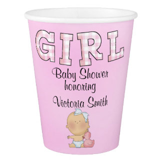 Baby Shower Baby Girl Paper Cup