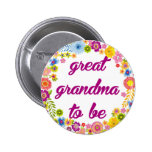 Baby Shower Badge - Great Grandma to be