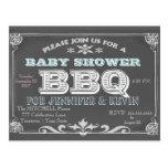Baby Shower   BBQ   Chalkboard Postcard
