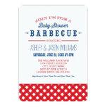 Baby Shower BBQ Invitation   Red White + Blue