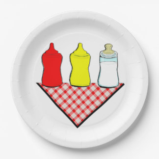 Baby Shower BBQ Paper Plate