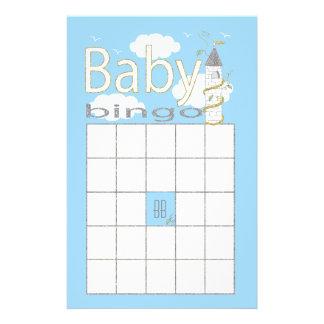 """Baby Shower BINGO """"Glittery Castle"""" Flyer"""