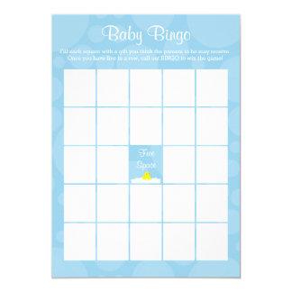 Baby Shower Bingo - Rubber Ducky Theme - Blue Card