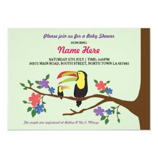 Baby Shower Bird Tucan It's a Boy GirI Twin Invite