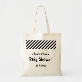 Baby Shower Black and White Stripes Bags