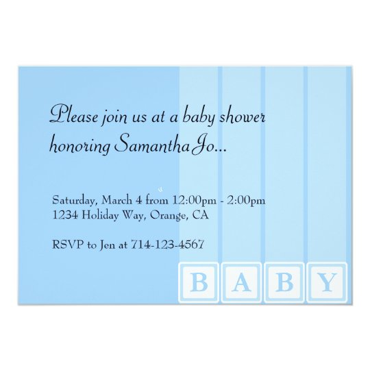 Baby Shower Blocks Card