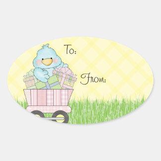 Baby Shower Blue Bird Sticker