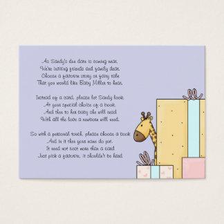 Baby Shower Book Insert Card