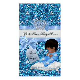 Baby Shower Boy Blue Little Prince Bunnies TAG Pack Of Standard Business Cards