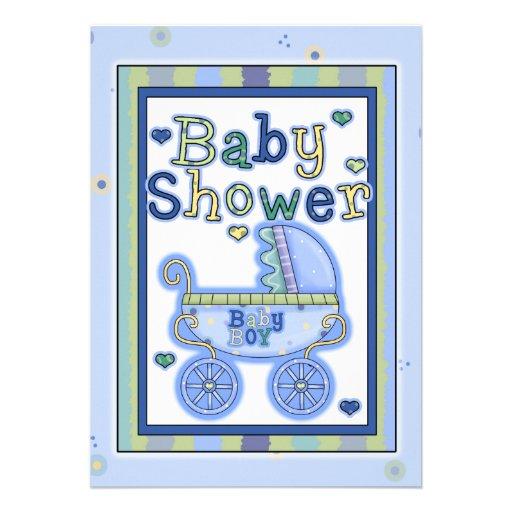 Baby Shower Boy Invitation Card