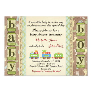 Baby Shower BOY,simple expressive design. Card
