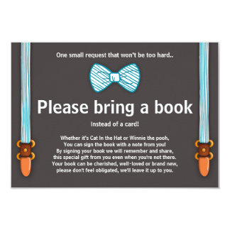 baby shower bring a book card little man 9 cm x 13 cm invitation card