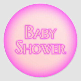 Baby Shower Bubble Classic Round Sticker