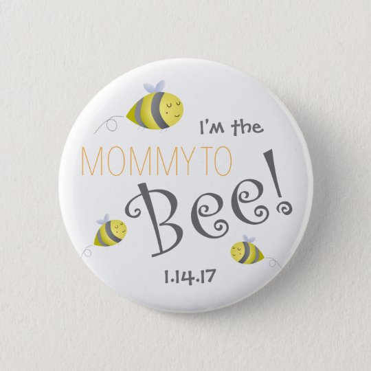 Baby Shower Button for New Mummy to Bee