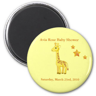 Baby Shower Buttons 6 Cm Round Magnet