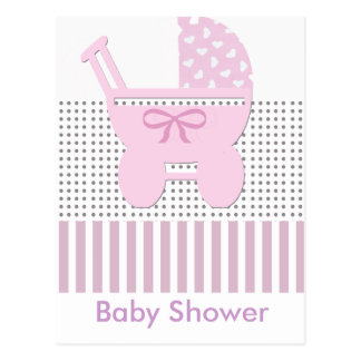 Baby Shower Carriage Postcard