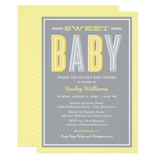 Baby Shower | Chic Type in Yellow and