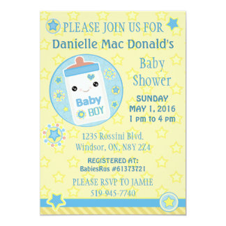 Baby Shower Custom Cute Kawaii Invitation