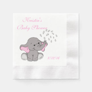 Baby Shower, Cute Elephant Paper Napkin