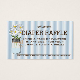 Baby Shower Diaper Raffle Ticket |